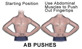 Picture of abdominal pushes exercise