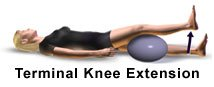 Picture of terminal knee extension exercises