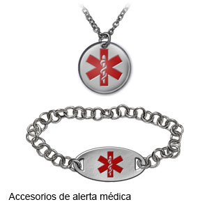 collar de alerta médica para diabetes