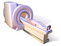 Picture of a Magnetic Resonance Imaging closed machine