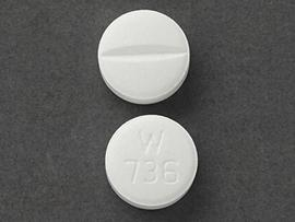 Metoprolol succinate extended release 100 mg W 736