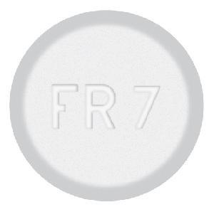 Pill Imprint FR 7 (Acetaminophen and Pamabrom 325 mg / 25 mg)