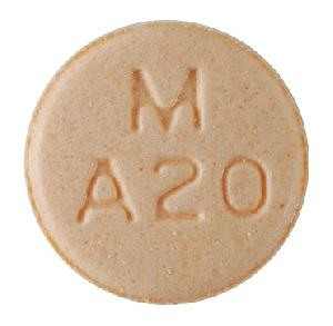 Amphetamine and Dextroamphetamine M A20