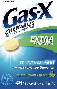 Pill Imprint GAS-X ES  (Gas-X Extra Strength (Chewables) Peppermint Creme simethicone 125 mg)