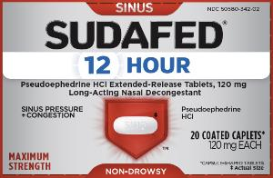 Sudafed 12-hour 120 mg SU12
