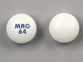 Pill Imprint MAG 64 (Mag 64 64 mg)