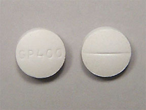 Pill Imprint GP400 (Magnesium Oxide 400 mg)