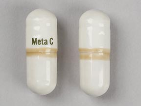 Pill Imprint Meta C  (Metamucil Plus Calcium calcium carbonate 60 mg / psyllium 550 mg)