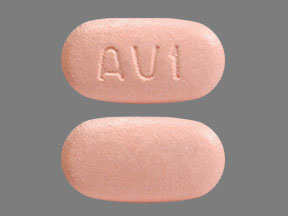 Pill Imprint AV1  (Technivie ombitasvir 12.5 mg / paritaprevir 75 mg / ritonavir 50 mg)