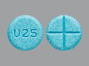 Amphetamine and dextroamphetamine 5 mg U25