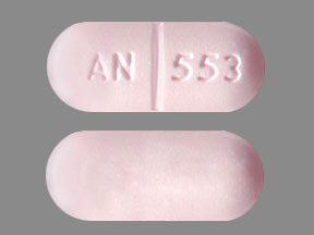Pill Imprint AN 553 (Metaxall 800 mg)