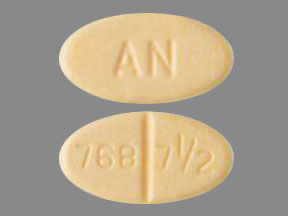 Warfarin sodium 7.5 mg AN 768 7 1/2