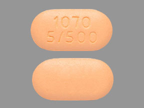 Pill Imprint 1070 5/500 (Xigduo XR 5 mg / 500 mg)
