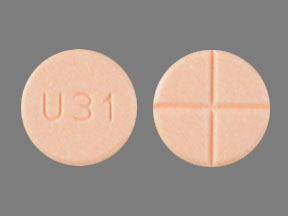 Amphetamine and dextroamphetamine 30 mg U31