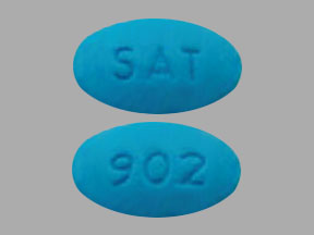 Pill Imprint SAT 902 (Utira-C hyoscyamine sulfate 0.12 mg / methenamine 81.6 mg / methylene blue 10.8 mg / phenyl salicylate 36.2 mg / sodium phosphate monobasic 40.8 mg)