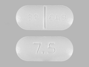 Acetaminophen and hydrocodone bitartrate 300 mg / 7.5 mg BP 649 7.5