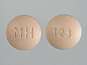 Pill Imprint MH 123 (Caffeine and Ergotamine 100 mg / 1 mg)