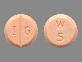 Warfarin sodium 5 mg I G W 5
