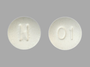 Pill Imprint N 01 (Methylergonovine Maleate 0.2 mg)