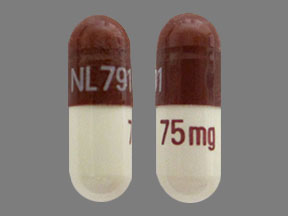 Doxycycline monohydrate 75 mg NL 791 75 mg