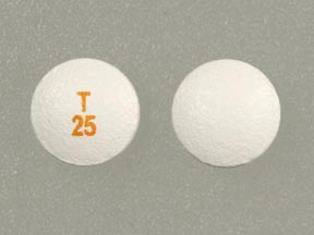 Pill Imprint T 25  (Tarceva 25 mg)