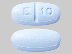 E 10 Pill Images (Blue / Elliptical / Oval)