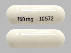 Pregabalin 150 mg 150 mg IG572
