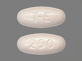Pill Imprint T-E 250 (Xermelo 250 mg)