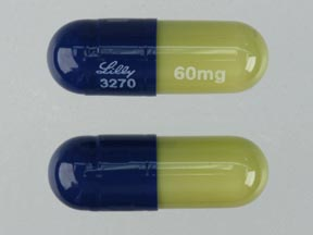 Duloxetine hydrochloride delayed-release 60 mg Lilly 3270 60mg