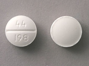 Pill Imprint 44 198 (Dimenhydrinate 50 mg)