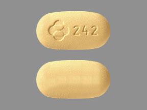 Pill Imprint Logo 242 (Isentress HD 600 mg)