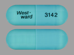 Pill Imprint West-ward 3142 (Doxycycline Hyclate 100 mg)