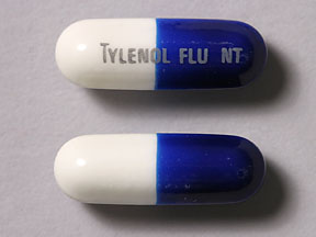 Pill Imprint TYLENOL FLU NT (Tylenol Flu Night Time Maximum Strength acetaminophen 500 mg / diphenhydramine 25 mg / pseudoephedrine 30 mg)