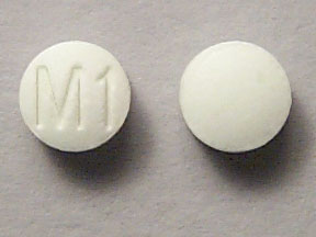 Pill Imprint M1 (Onset Forte acetaminophen 162.5 mg / chlorpheniramine maleate 2 mg / phenylephrine hydrochloride 5 mg)