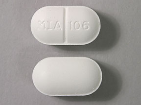 Pill Imprint MIA 106  (Acetaminophen and Butalbital 325 mg / 50mg)