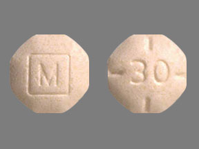 Amphetamine and Dextroamphetamine M 30