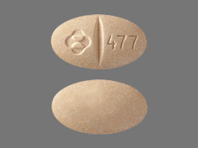 Pill Imprint Logo 477  (Isentress (Chewable) 100 mg)