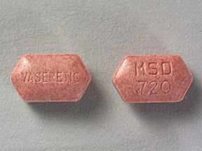 Pill Imprint VASERETIC MSD 720 (Vaseretic 10-25 10 mg / 25 mg)