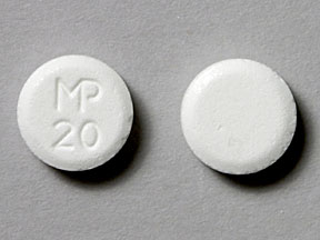 Pill Imprint MP 20  (Ergoloid Mesylates 1 mg)
