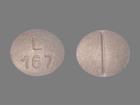 L167 Pill Images (Tan / Elliptical / Oval)