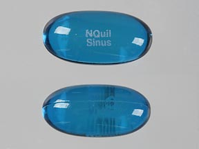 Vicks nyquil sinus acetaminophen 325 mg / doxylamine succinate 6.25 mg / phenylephrine hydrochloride 5 mg NQuil Sinus