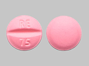 Metoprolol tartrate 50 mg RE 75