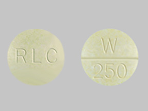 Westhroid 162.5 mg (2 ½ grain) RLC W 250