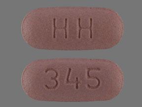 Hydrochlorothiazide and valsartan 12.5 mg / 80 mg HH 345