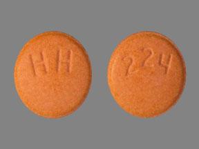 HH 224 Pill Images (Orange / Round)