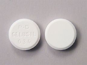 Pill Imprint PD GELUSIL 034  (Gelusil aluminum hydroxide dried gel 200 mg / magnesium hydroxide 200 mg / simethicone 25 mg)