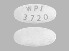 Pill Imprint WPI 3720 (Tranexamic Acid 650 mg)