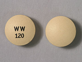 Ergotamine tartrate and caffeine 1 mg / 100 mg WW 120