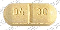 Pill Imprint WALLACE 04 30 (Felbatol 400 mg)