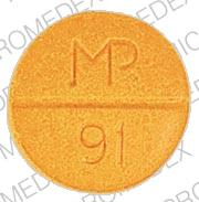 Pill Imprint MP 91 (Sulfasalazine 500 mg)